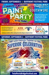 Paint Party, Harvest Festival & Bridge Festival
